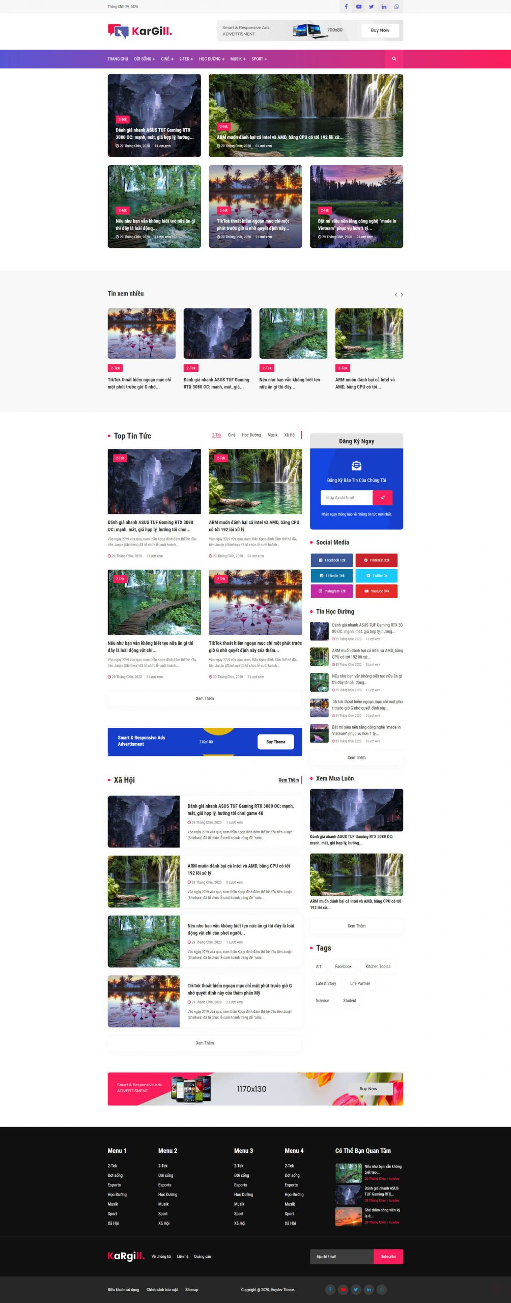 Mẫu website tin tức 03