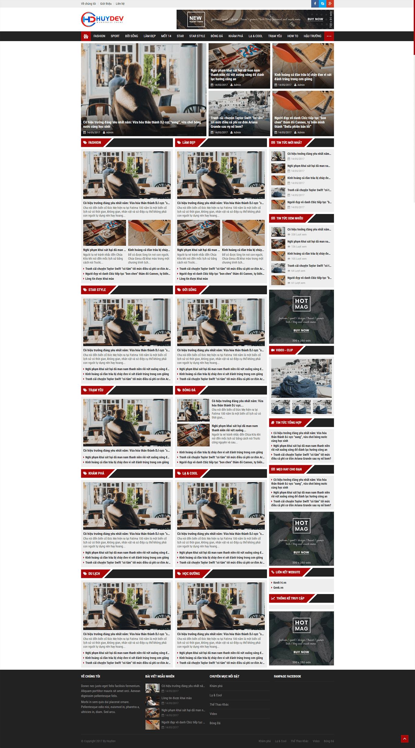 Mẫu website tin tức 01