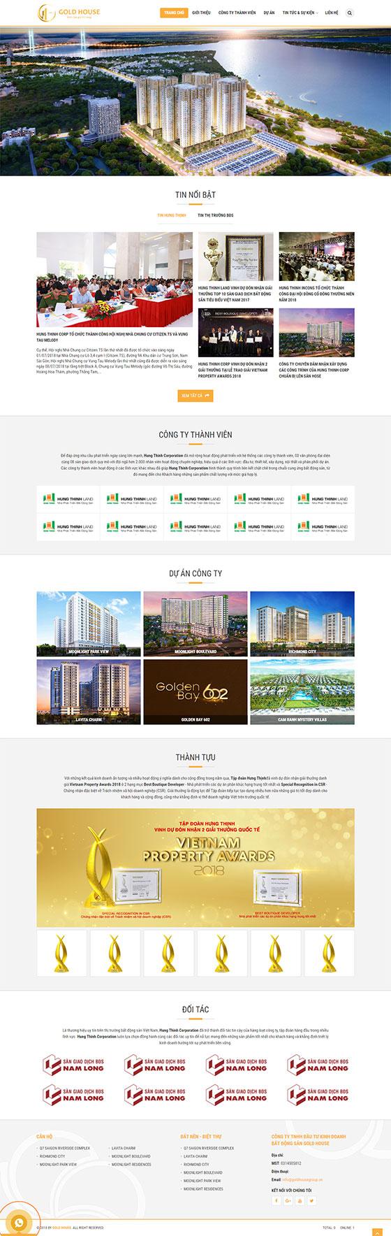 Trang chủ mẫu website bất động sản 04