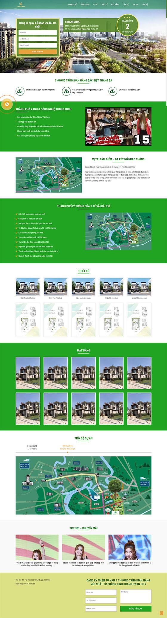 Trang chủ mẫu landing page bất động sản 01