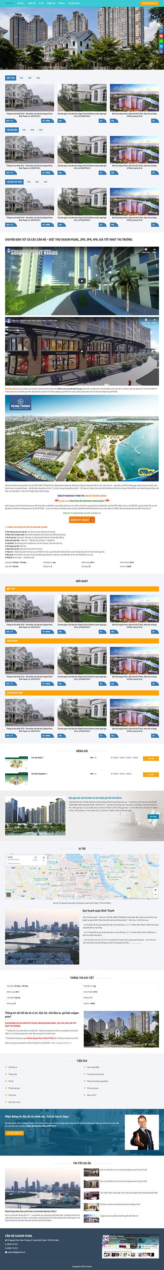 Trang chủ mẫu landing page bất động sản 04
