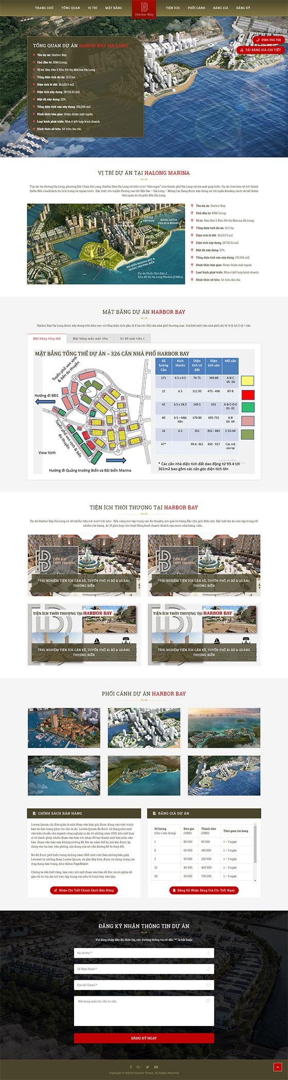 Trang chủ mẫu landing page bất động sản 06