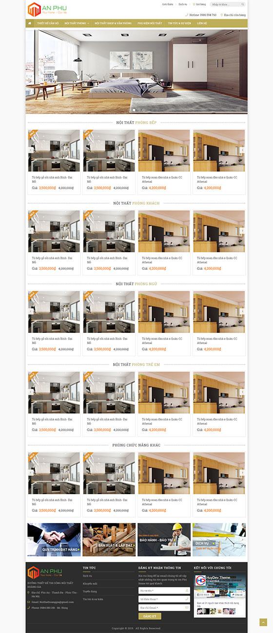 Mẫu website bán hàng nội thất 05