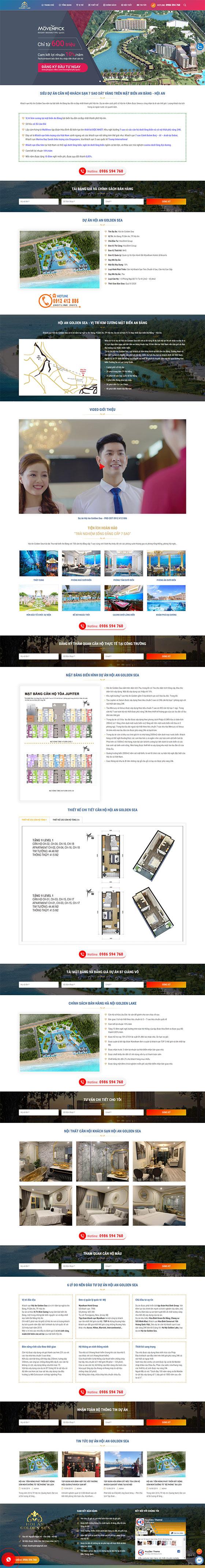 Mẫu landing page bất động sản 01
