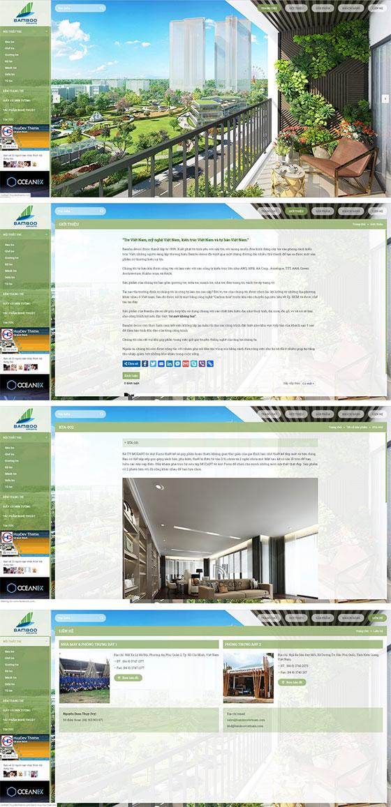 Trang chủ mẫu website nội thất 07