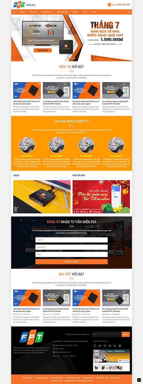 Trang chủ mẫu website dịch vụ 04