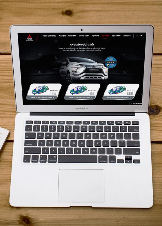 Trang chủ mẫu website ô tô 03