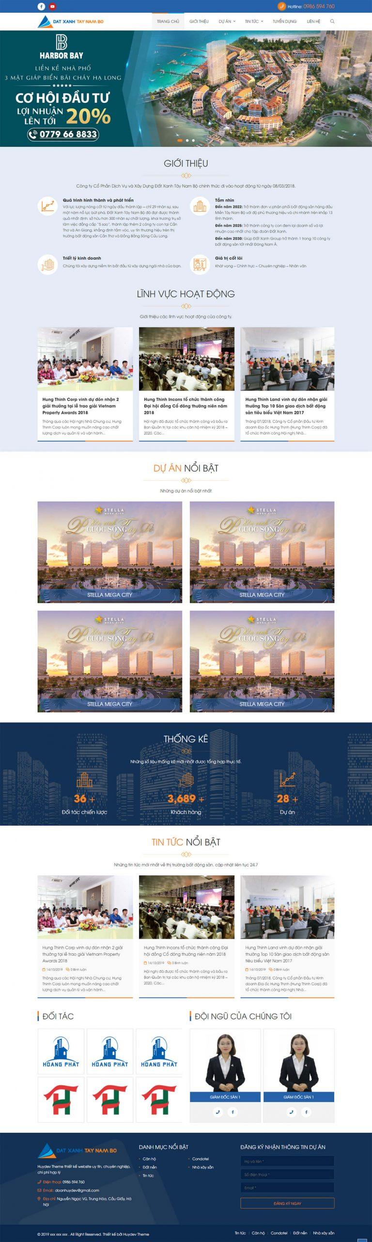 Mẫu website bất động sản 06