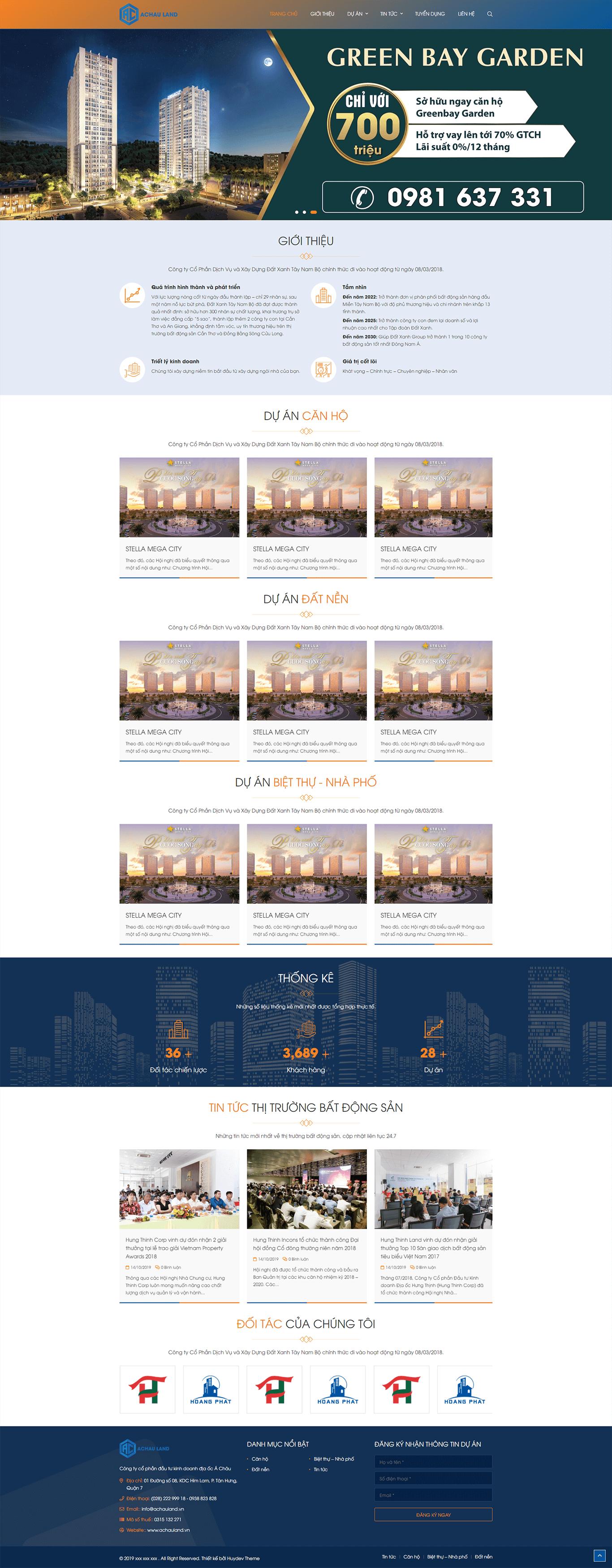 Mẫu website bất động sản 07