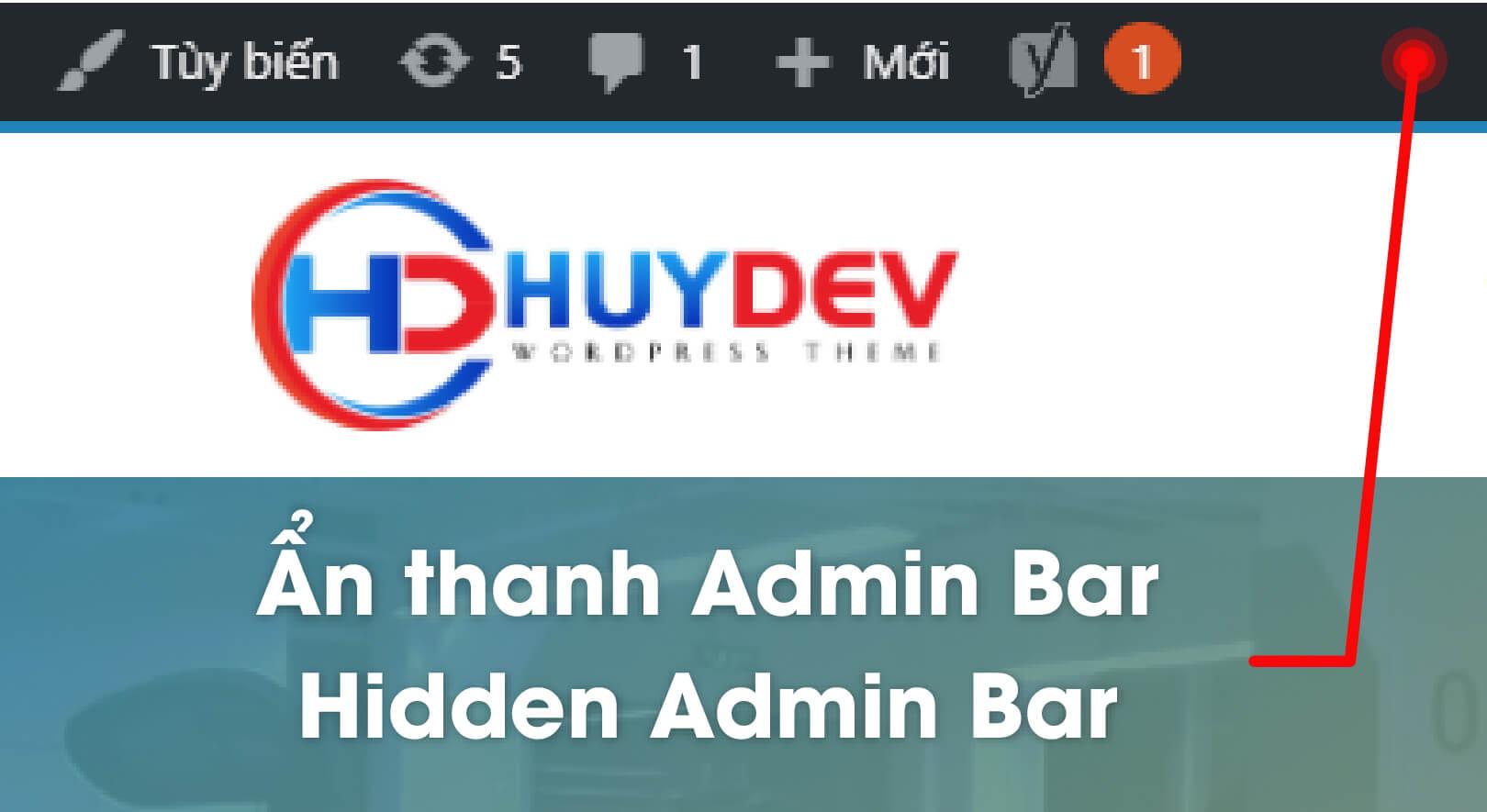Ẩn thanh Admin Bar trong WordPress không sử dụng Plugin