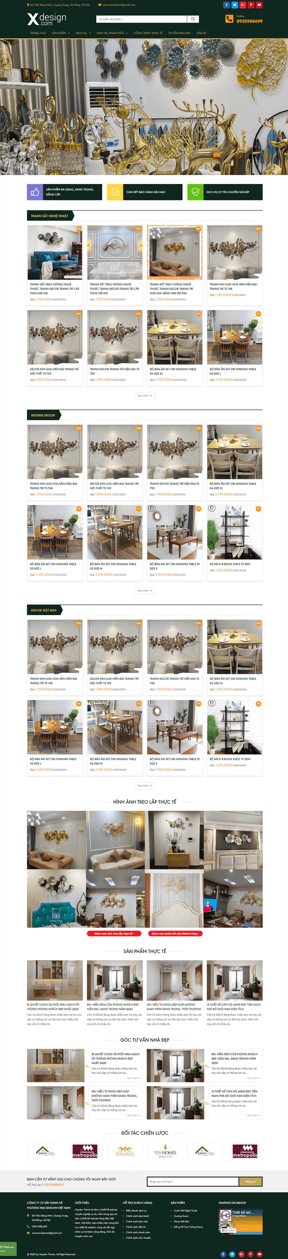 Mẫu website nội thất 10